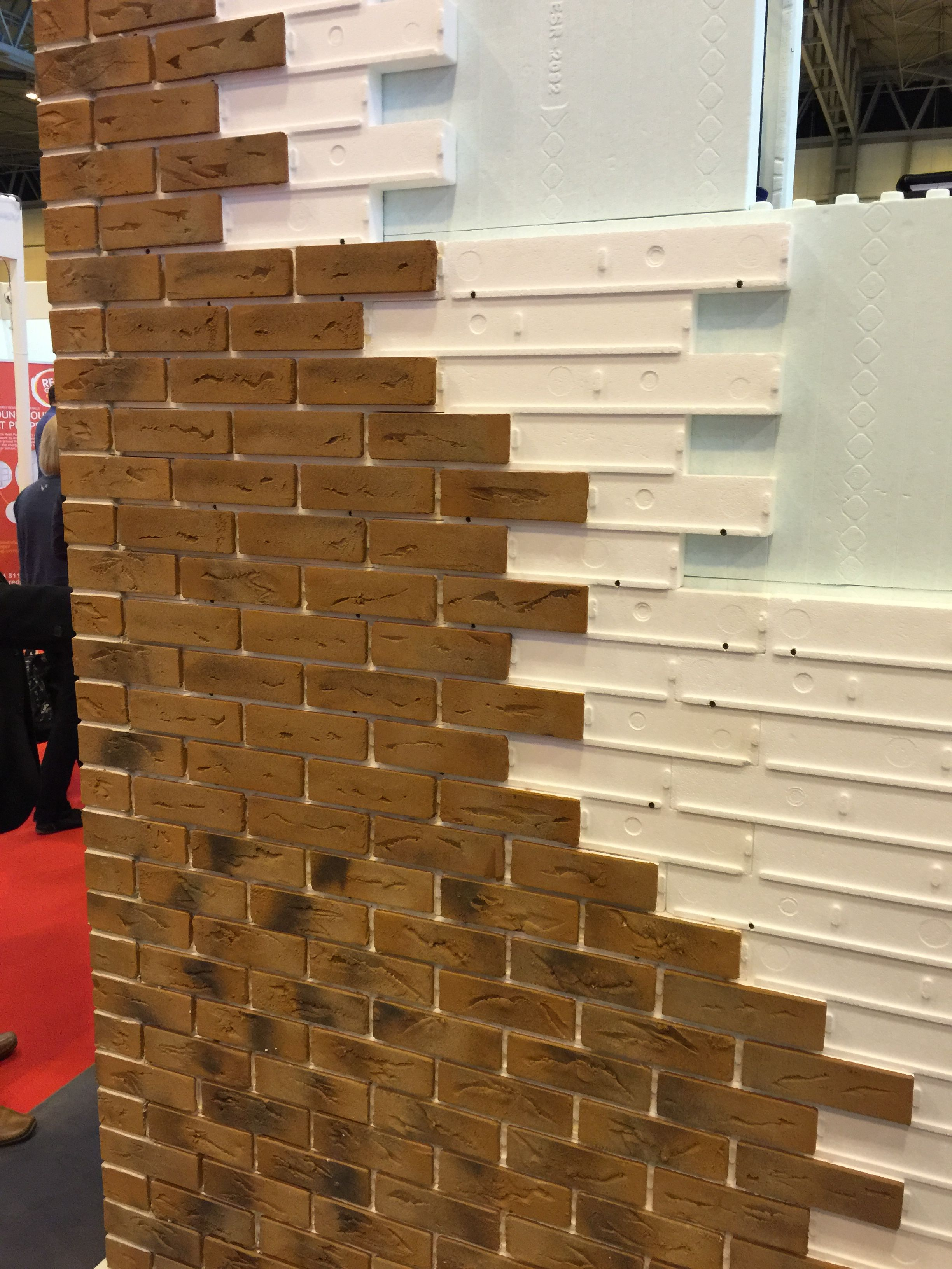 Brick Slip Cladding Either External Or With An Internal Feature Wall Diy Brick Wall Brick Wall Brick Cladding