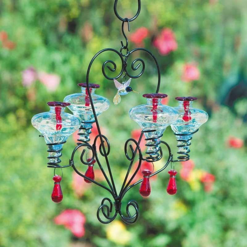 Chandelier Hummingbird Feeder Glass Hummingbird Feeders Humming Bird Feeders Hummingbird