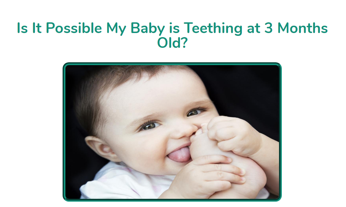 Possible My Baby Is Teething At 3 Months Old | Teething at ...