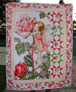 Crafty Little Mama Flower Fairies Baby Quilt Fabric