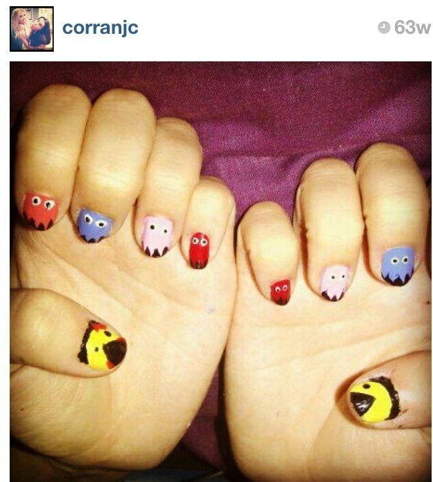 Mr & Ms Pac Man nails
