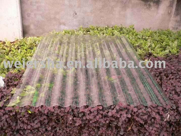 Best Daylighting Clear Corrugated Polycarbonate Sheet 3 4 8 400 x 300