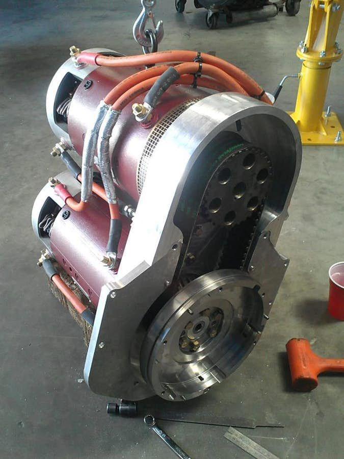 Warp 9 Dc Motors Drive The Sri Ev1 E Racer Electric Car Engine Electric Cars Electric Motor For Car