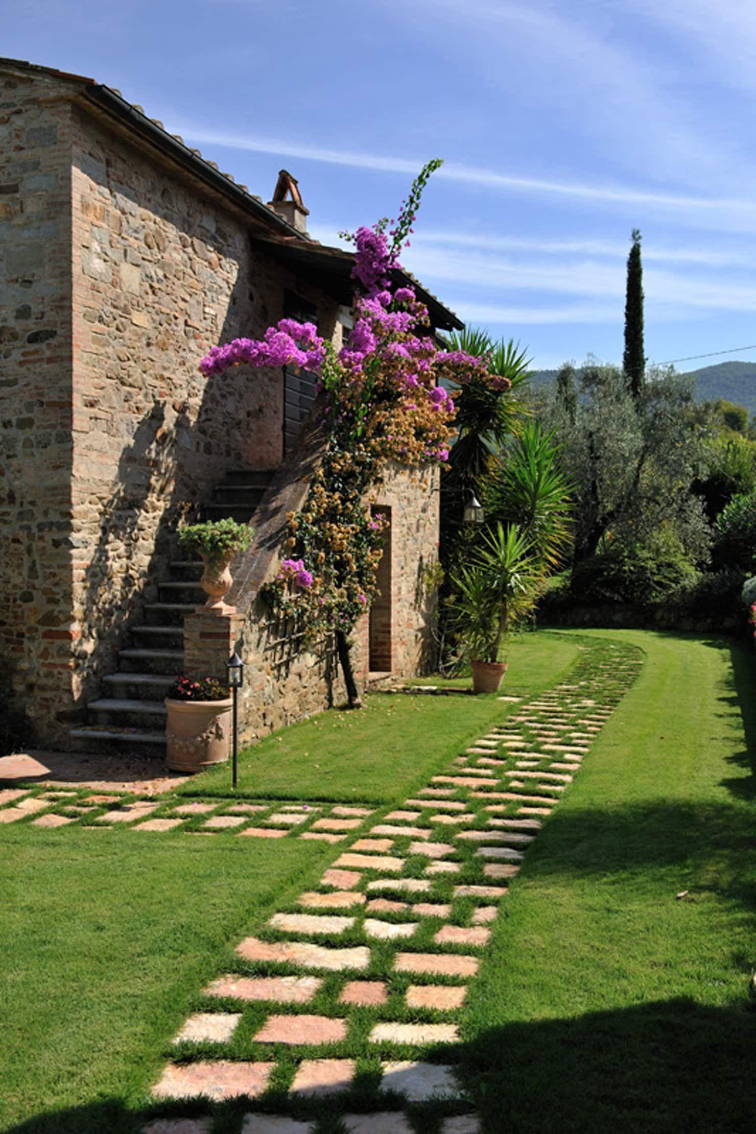 Lo stile toscano case in stile rustico di arte pietra