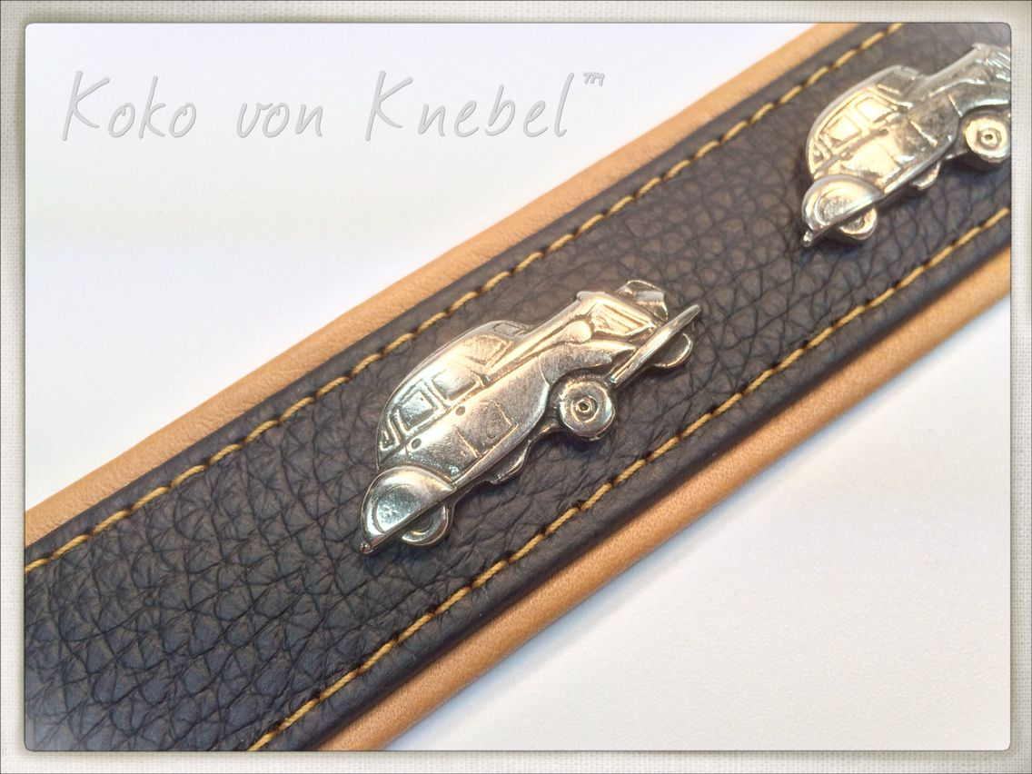 Classic Cars On Bi Color Leather Handcrafted By Koko Von