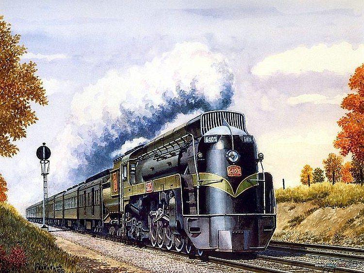 Поезд картинки красивые нарисованные