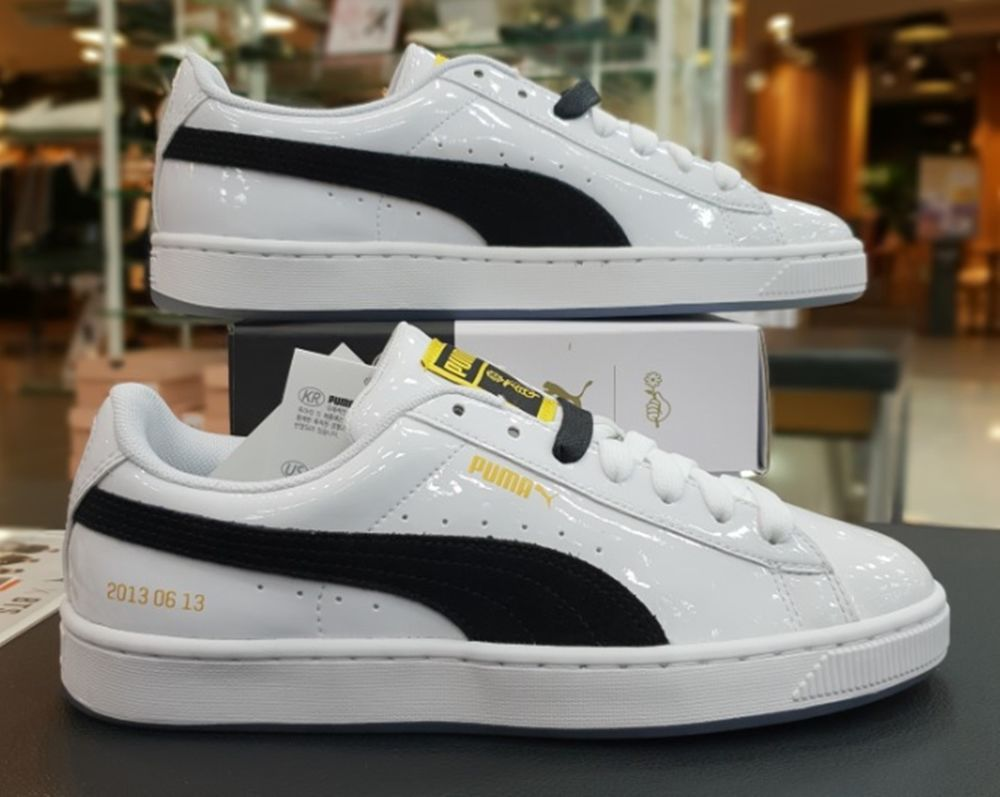 19b5cb458644 PUMA X BTS BASKET PATENT Shoes White Running Sneakers Photocard Shoe  36827801  fashion  clothing  shoes  accessories  unisexclothingshoesaccs ...