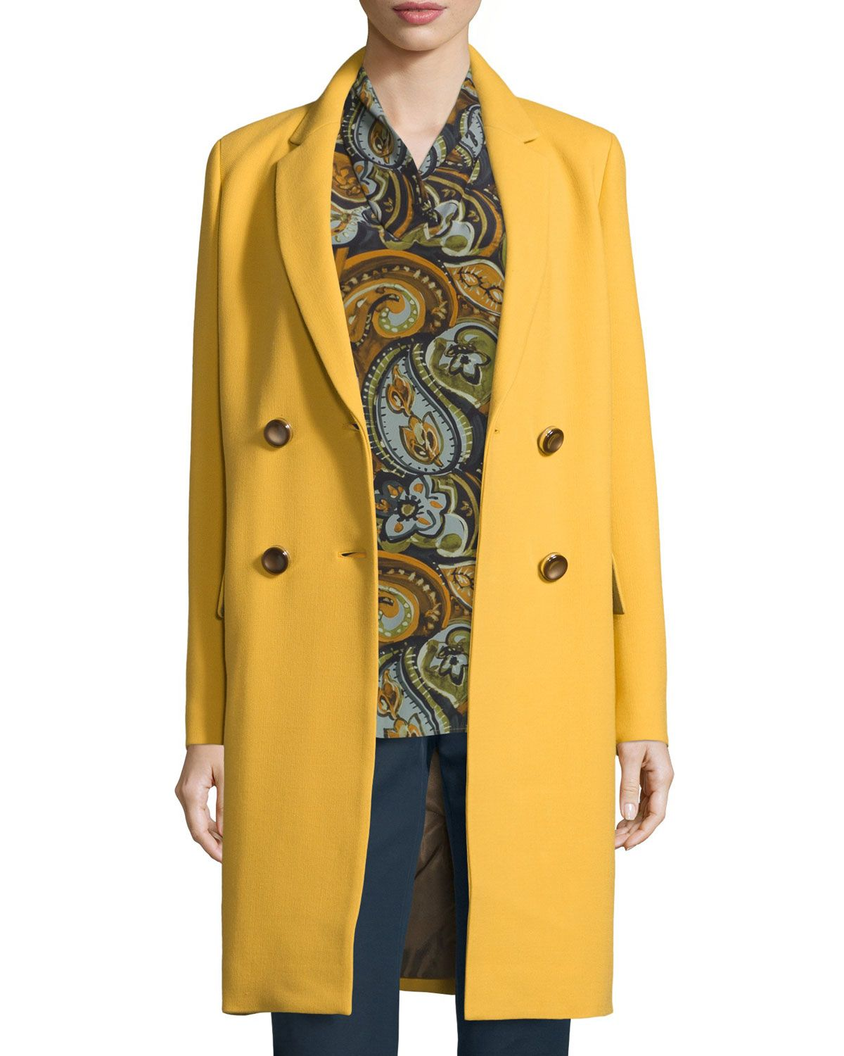 d0a986808a84c Gianna Double-Breasted Wool-Blend Coat
