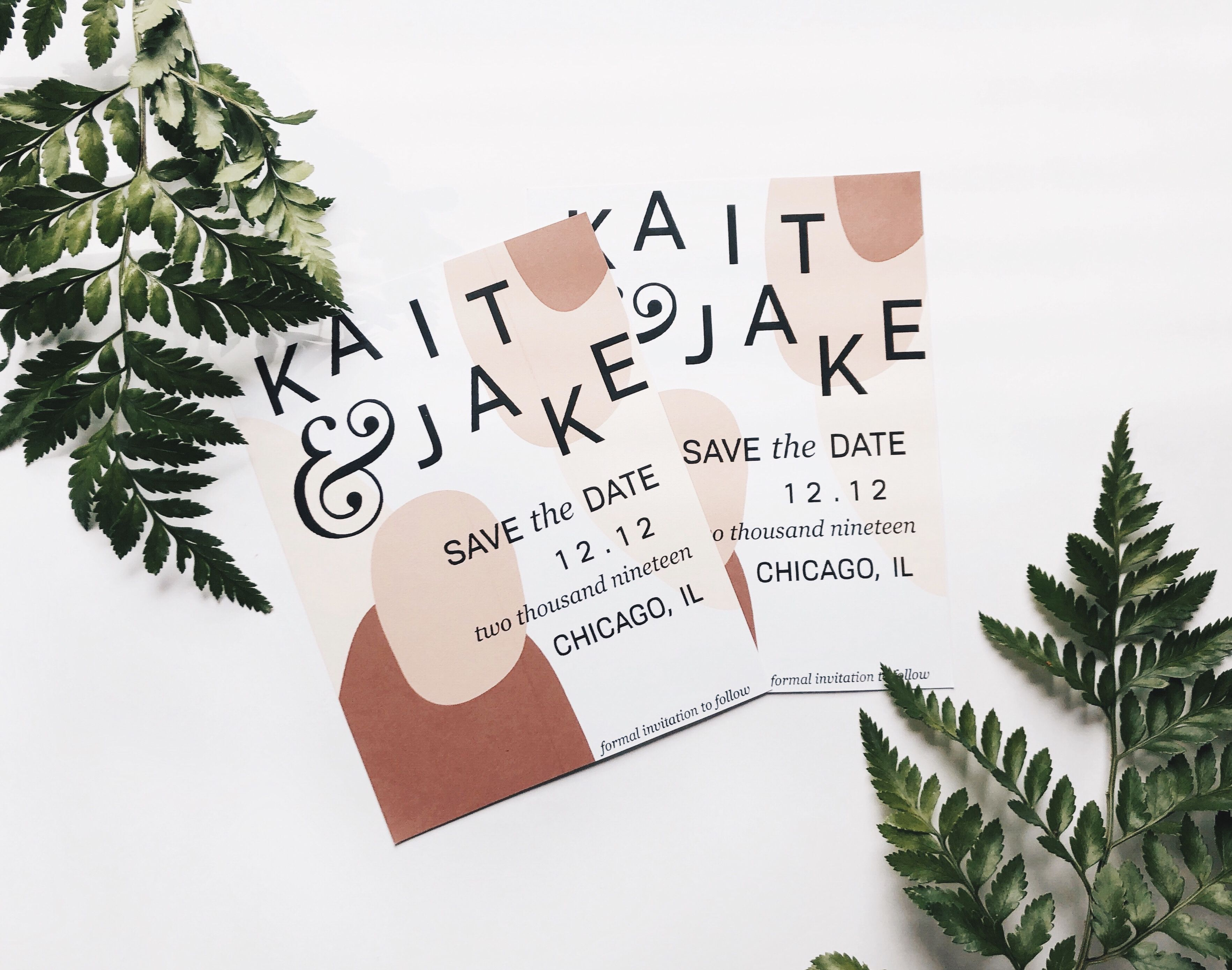 Save the dates design by Kaitlyn from FEM+FLEUR.