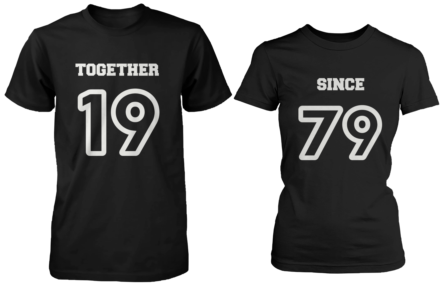 776dc91d1e ... Matching Couple Shirts (Set). Customized Shirts, Personalized Gifts -  Wedding gift ideas, Anniversary gifts, Honeymoon outfit ideas, Bridal  Shower gifts ...