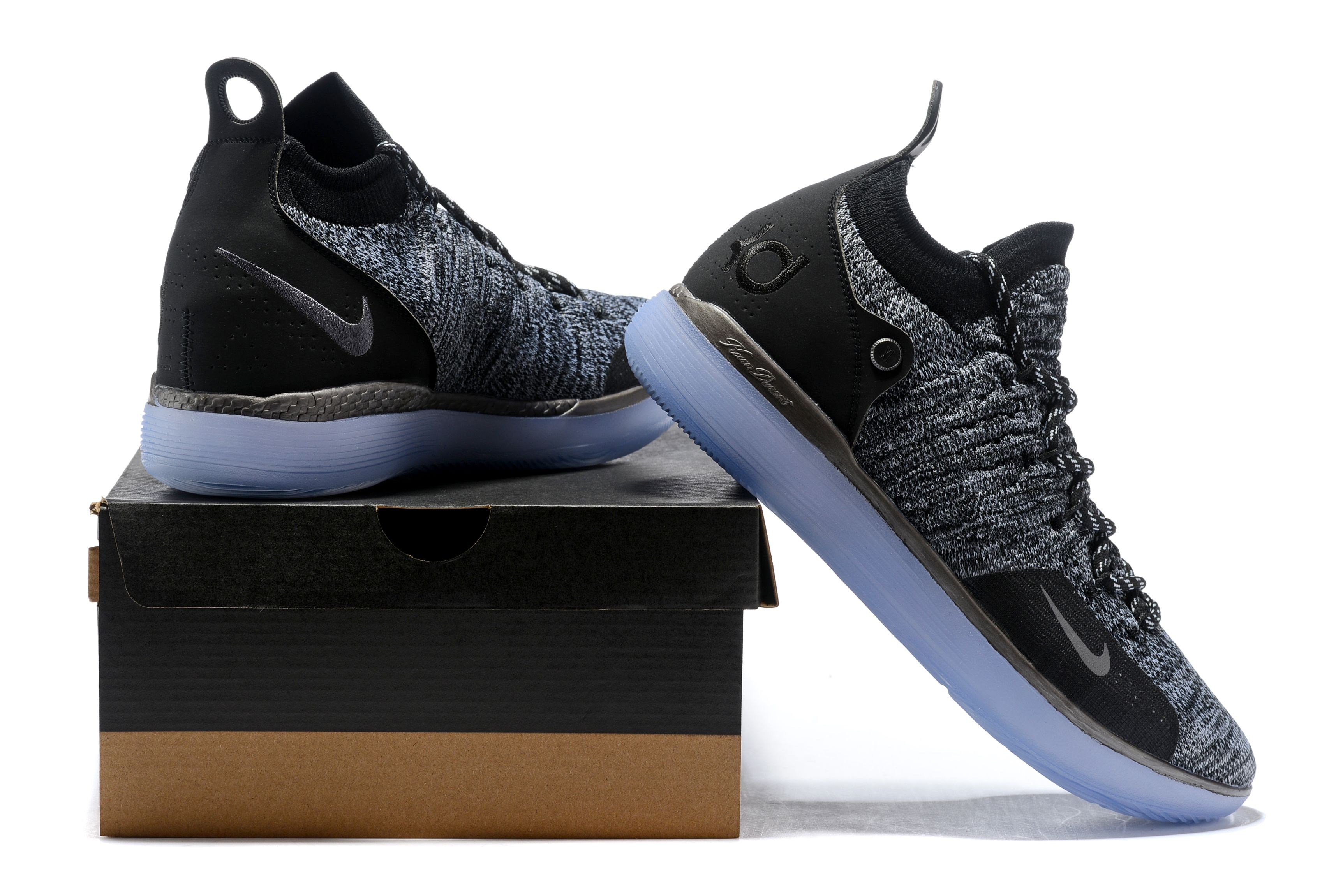 78d393863751 Nike Zoom KD 11 EP Black Grey Men s Basketball Shoes Free Shipping ...