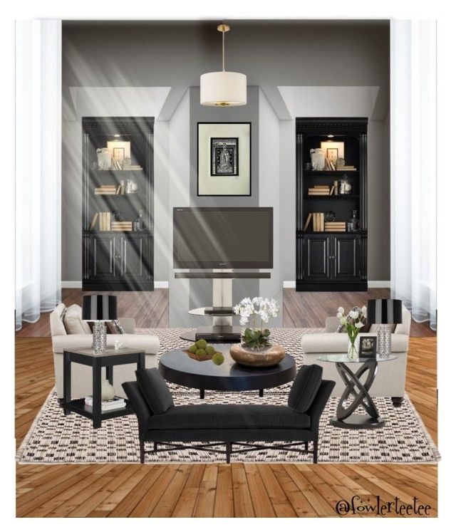 """""""Luxury Retreat"""" by fowlerteetee on Polyvore featuring interior, interiors, interior design, home, home decor, interior decorating, Hooker Furniture, Altra, Homelegance and Kate Spade"""