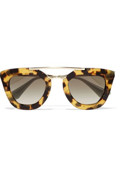 b2a18c1886858 Tortoiseshell acetate, gold-tone metal 100% UV protection Come in a ...
