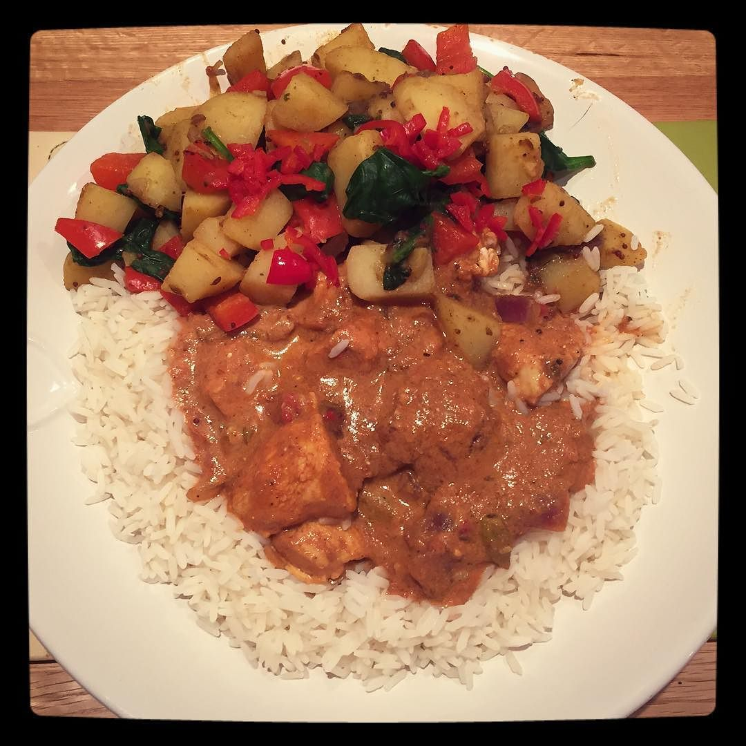 #mansize #homemade #korma #curry and #sagaloo on #slimmingworld