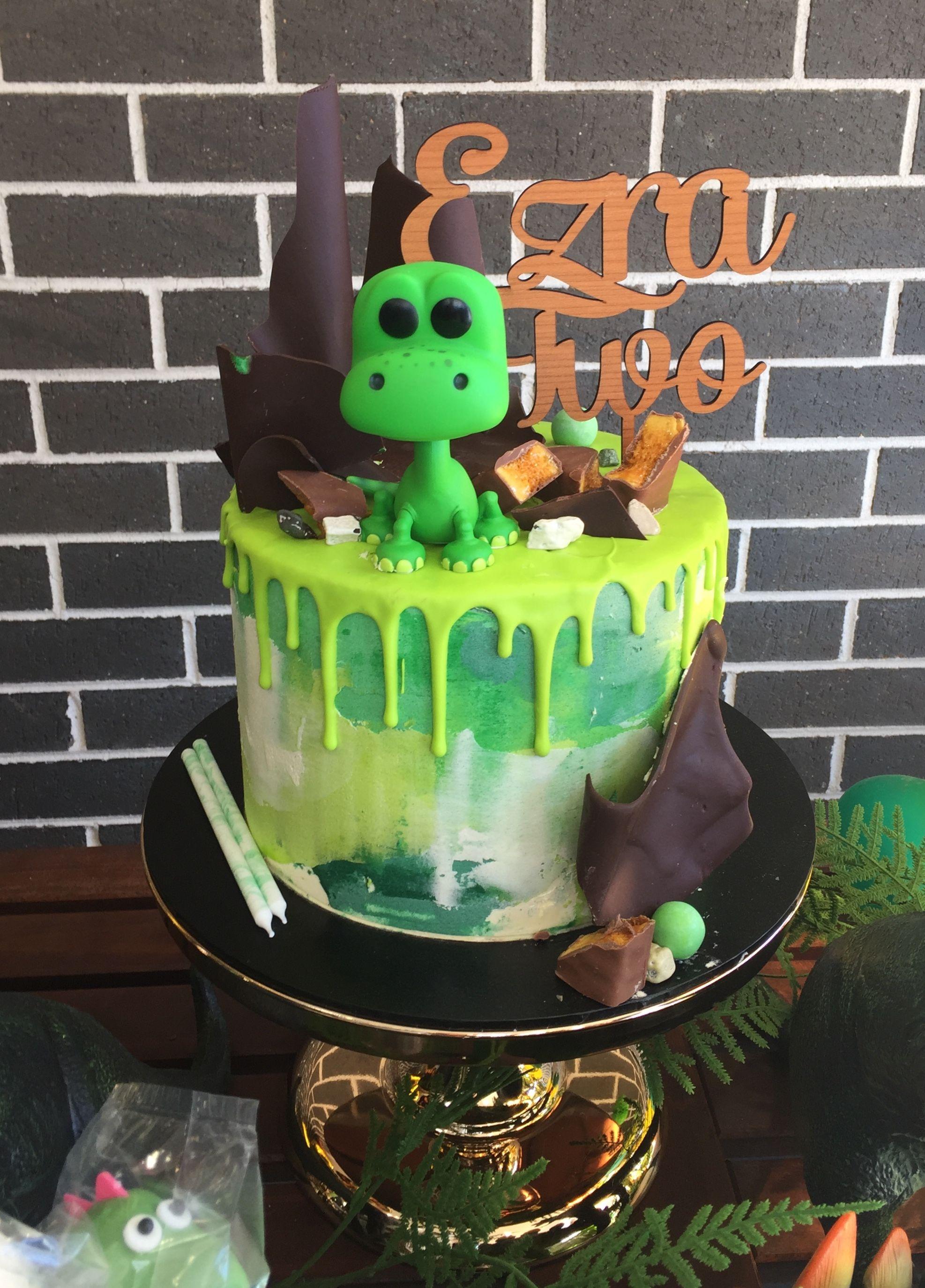 Dinosaur drip cake drip cakes dinosaur birthday party