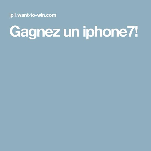 Gagnez un iphone7!