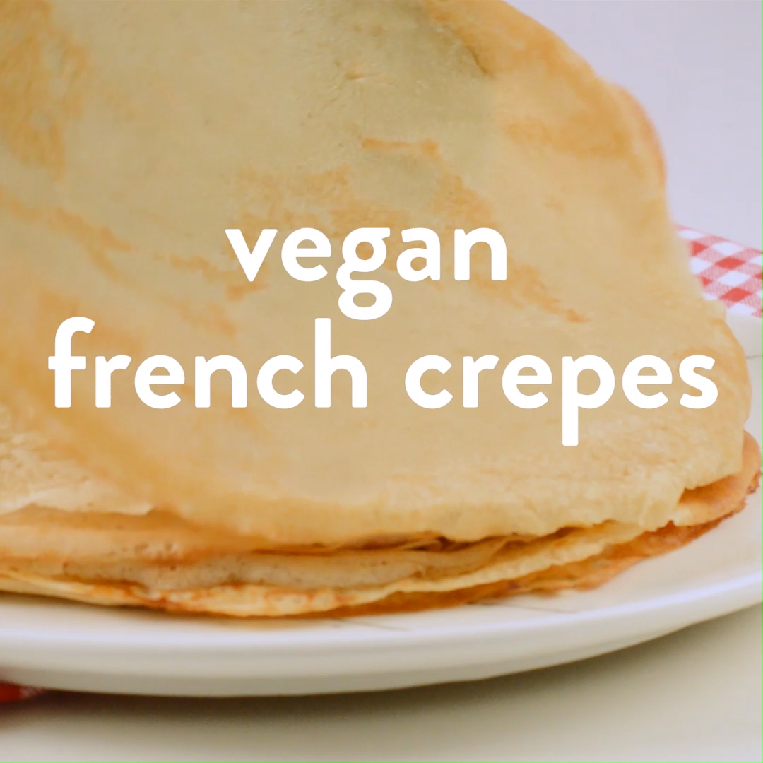 EASY VEGAN CREPES 5 ingredients Vegan French Style Breakfast #easy #vegancrepes #vegan #french #5ingredients
