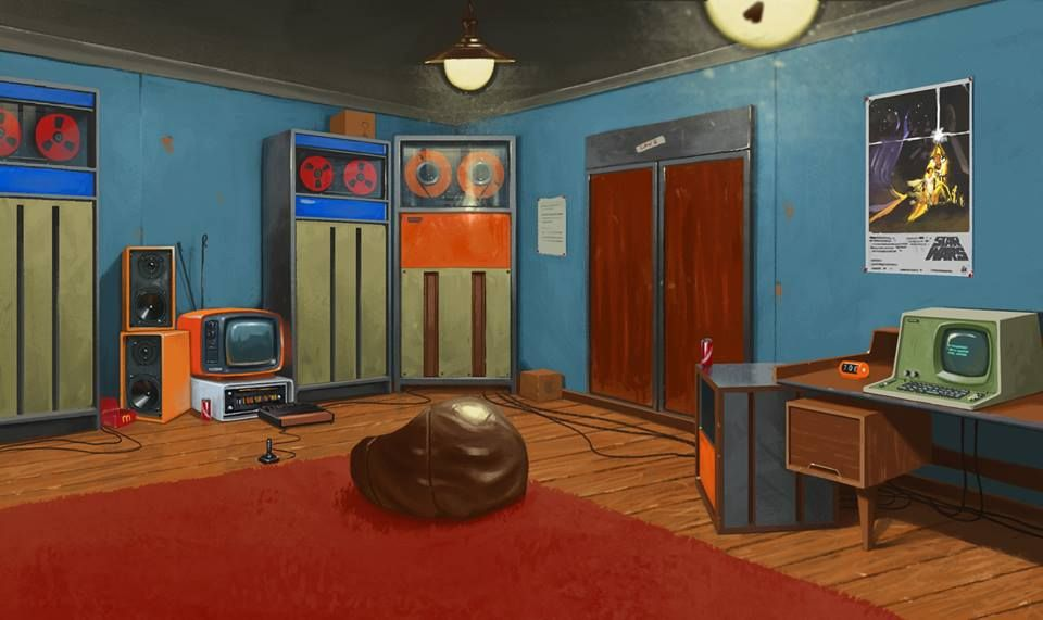 1977 Computer Room by Jacob Briggs http://www.jacobbriggs.co.uk/ https://www.facebook.com/NostalgiaForFuture/?__mref=message_bubble