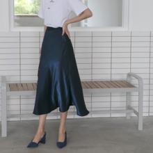 079713a577 Women's Skirt Women Solid Color Long Loose Casual Skirt Summer Women's  Clothing Skirts Womens Harajuku Long