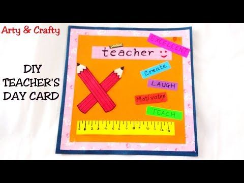Handmade Teachers Day Card Making| Teacher day 2018 | Easy Teachers Day Card | - YouTube #teachersdaycard