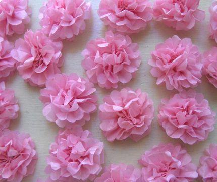 Steps To Make Tissue Paper Flowers Tissue Paper Flowers Tissue
