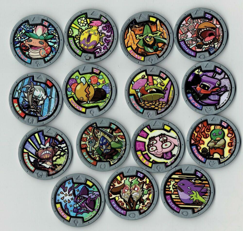 Yo-kai watch GREY 15 Medals Bandai Japanese version