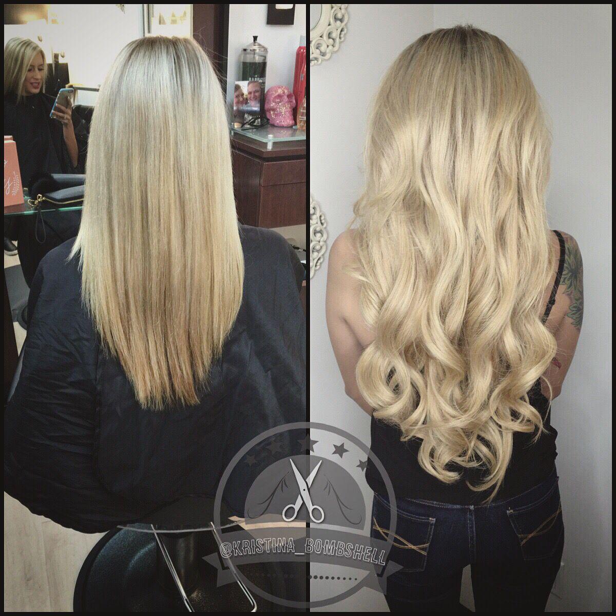 Blonde Bombshell Hair Extensions Hair By Kristina Jobe Pinterest