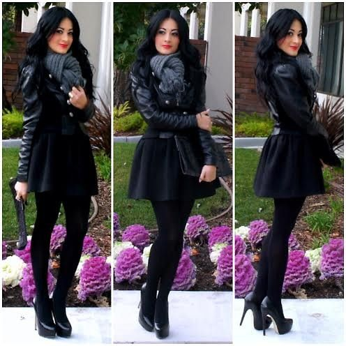 2b Bebe Faux Leather Jacket, Forever 21 Skirt, Shoedazzle Heels ...