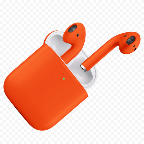 Orange Two Pairs Apple Airpods With Open Box Apple Orange Electronic Products