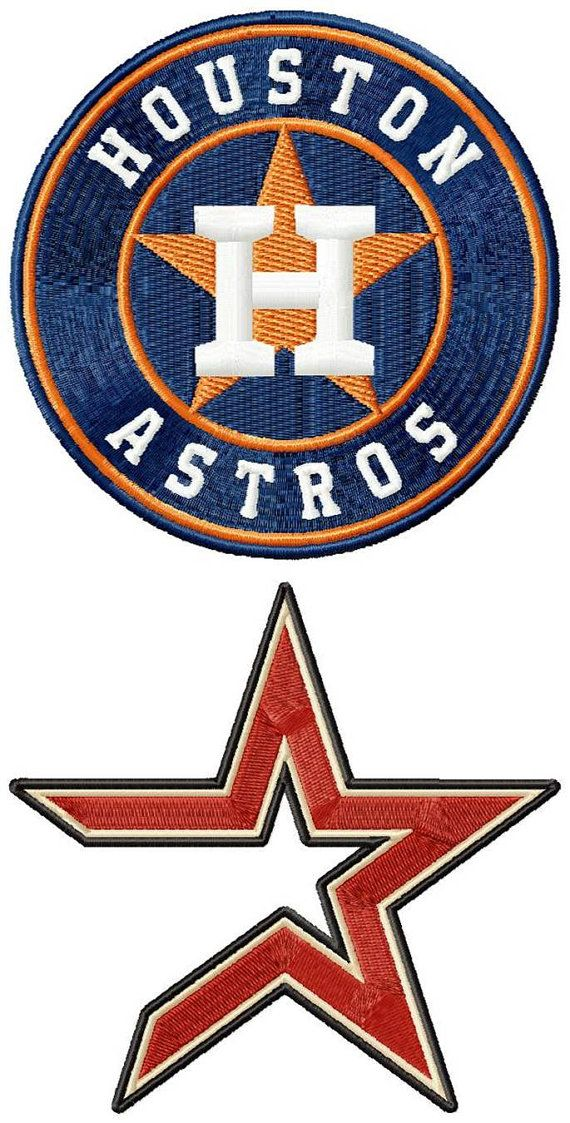 Houston Astros Logos Machine Embroidery Design By Emoembroidery