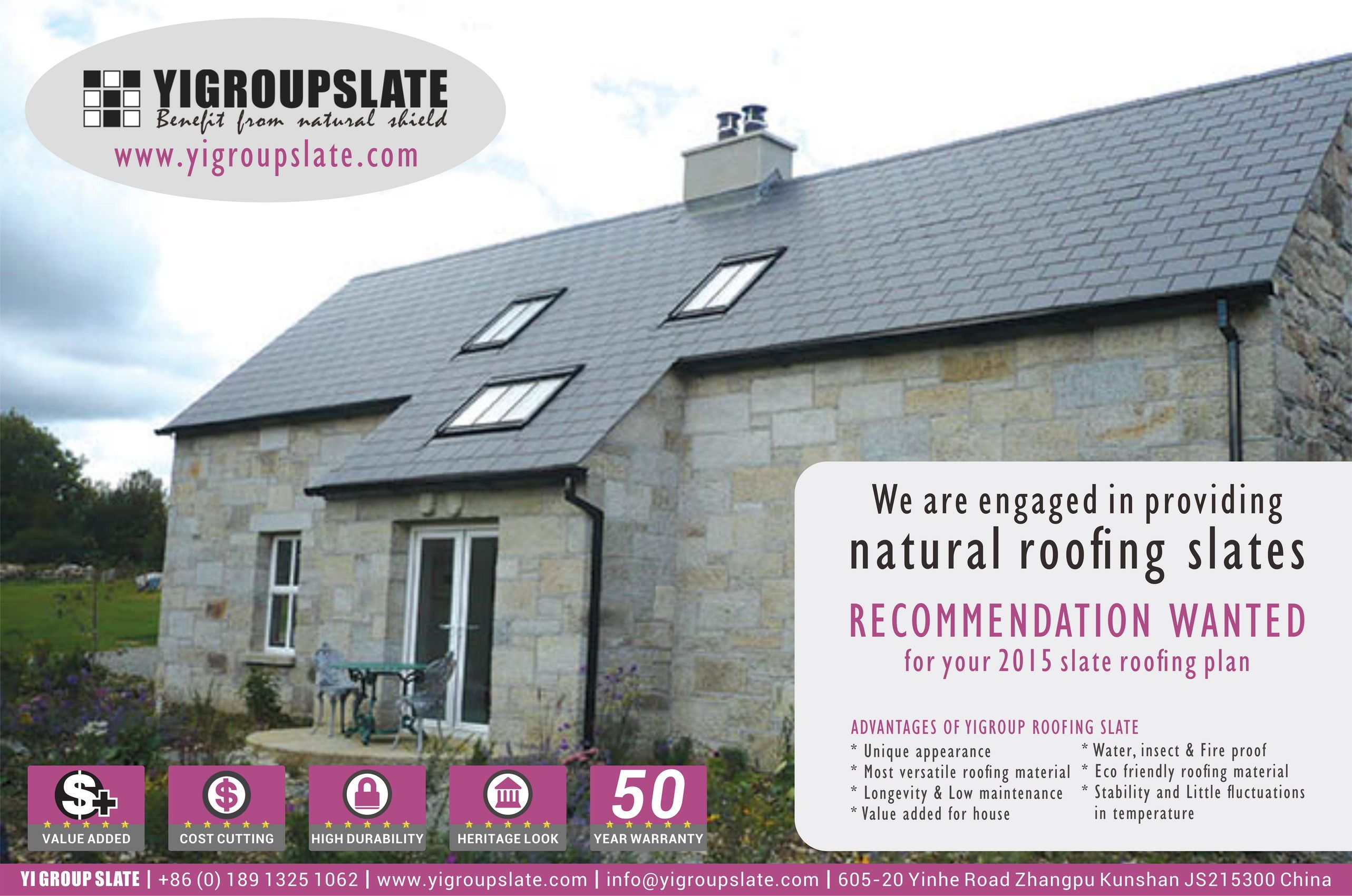 Roofing slate supplies serves for your natural roofing slates