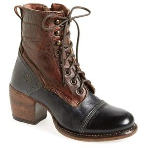 "Bed Stu 'Oath' Two-Tone Cap Toe Boot, 2 1/2"" heel"