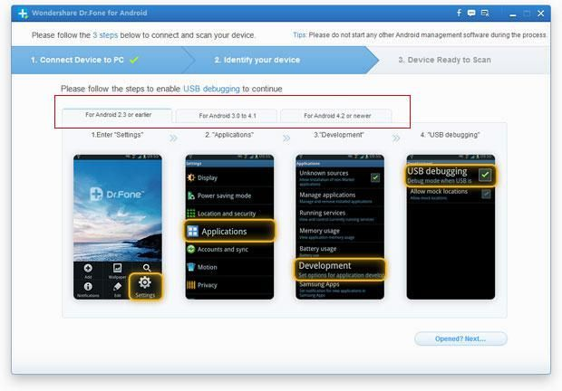 Recover Deleted Text Messages from Samsung Galaxy S4/S5/S3/Note/Ace