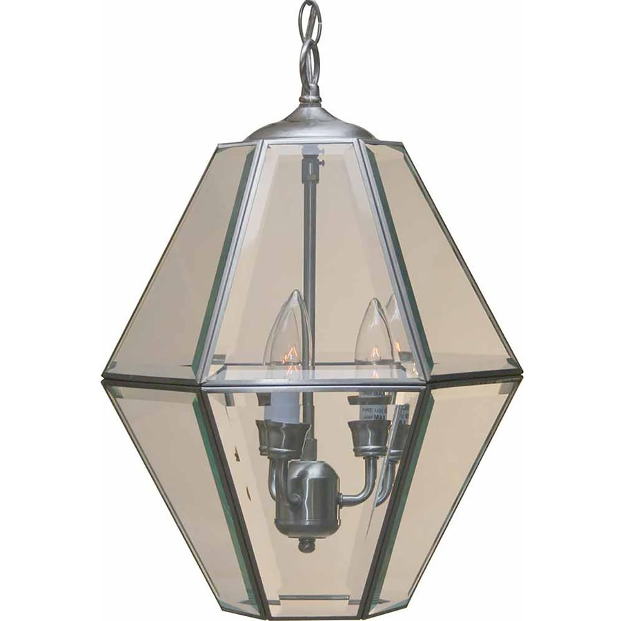 Hallway lighting no outlet  Ayden In Light Brushed Nickel Clear Glass Candle Chandelier