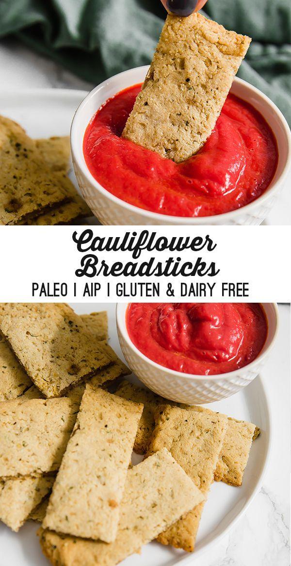 Cauliflower Breadsticks (Paleo, AIP, Gluten & Dairy Free