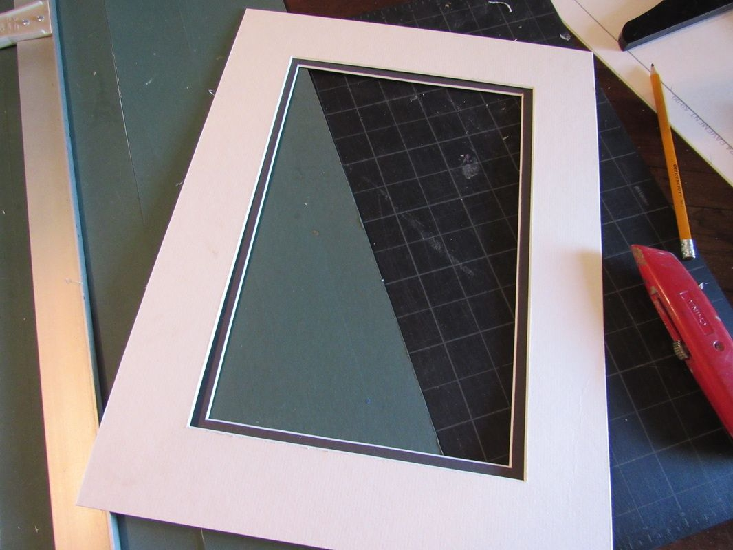 Step by step how to mat and frame a picture Frame