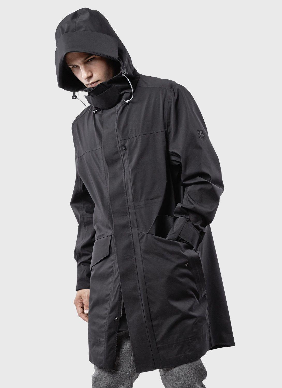 3L Tech UX Parka Shell (Black) | ISAORA | long parka 单衣 ...