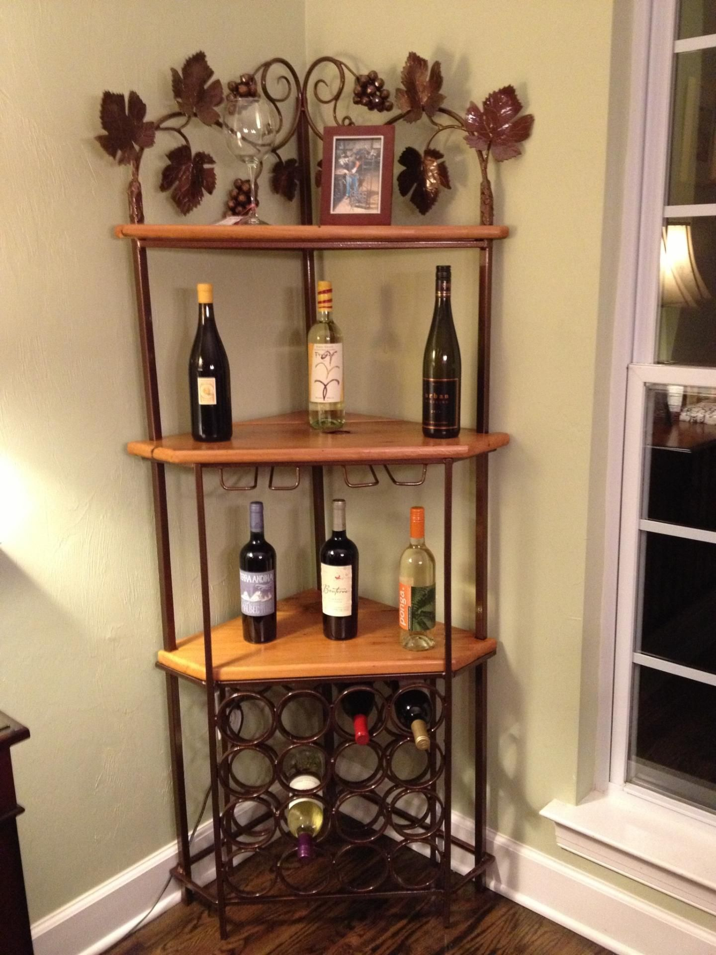 Custom Corner Wine Rack Projects Pinterest