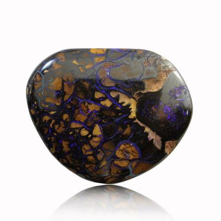 Blue & Purple Solid Boulder Matrix Opal | Stunning & unique stone – intricate matrix patterning with vibrant veins of flashing purple.