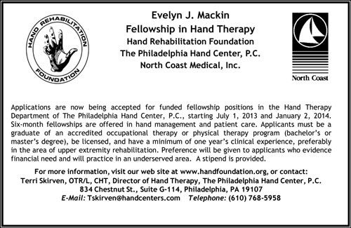 Fellowship in Hand Therapy wanted in National NEWS-Line for - physical therapist job description