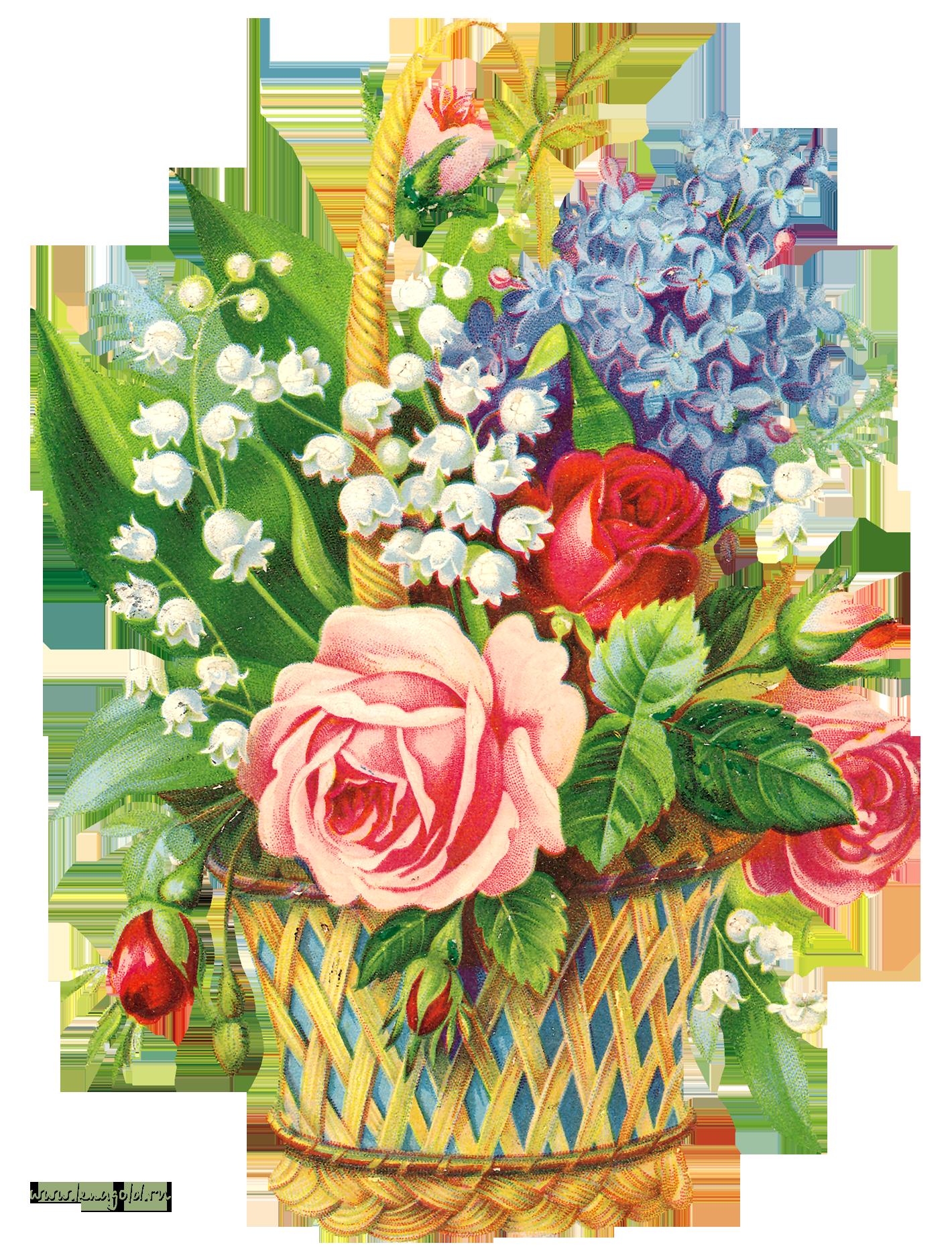 открытки с изображением букетов цветов который