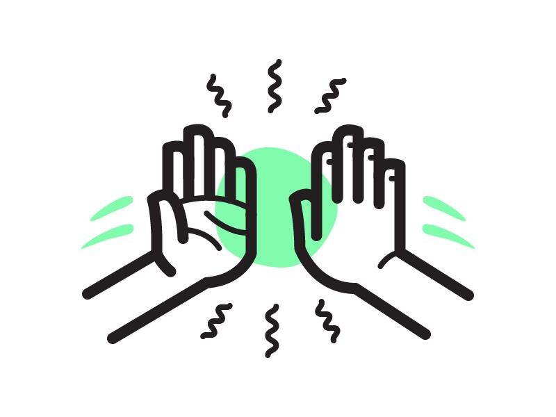 Hi5 Flat Logo Design Typography Logo Logo Design Inspiration