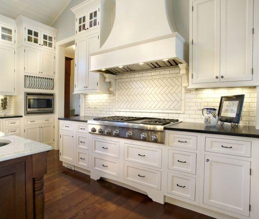 White Craftsman Kitchen Traditional Island Style White Kitchen
