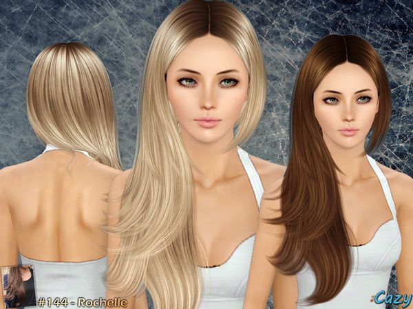 Rochelle Hair Set By Cazy Sims 3 Downloads CC Caboodle Sims