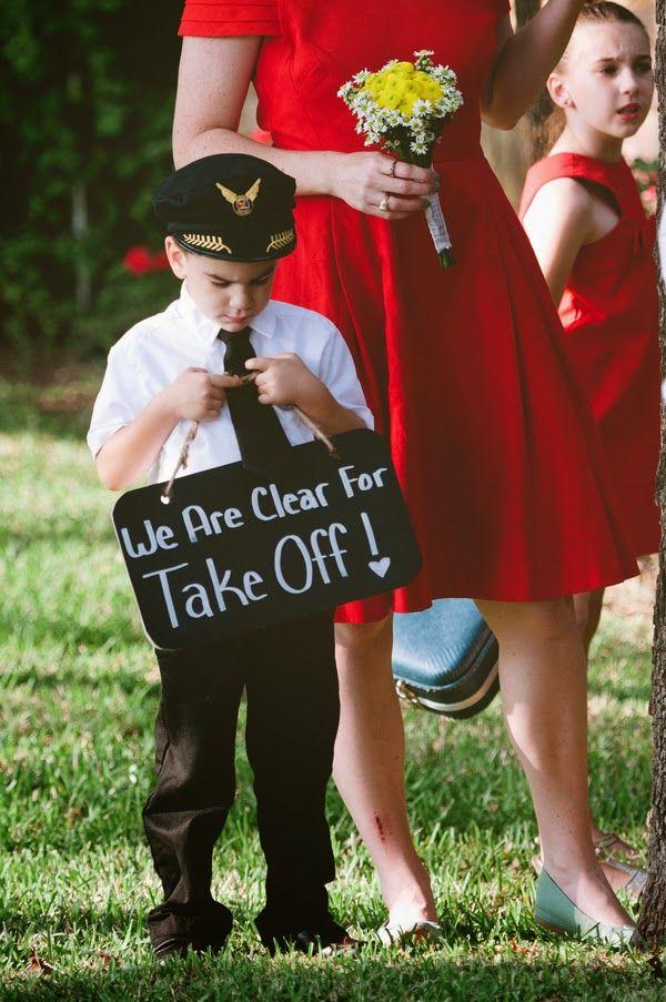 Airplanes Retro Aviation Themed Wedding