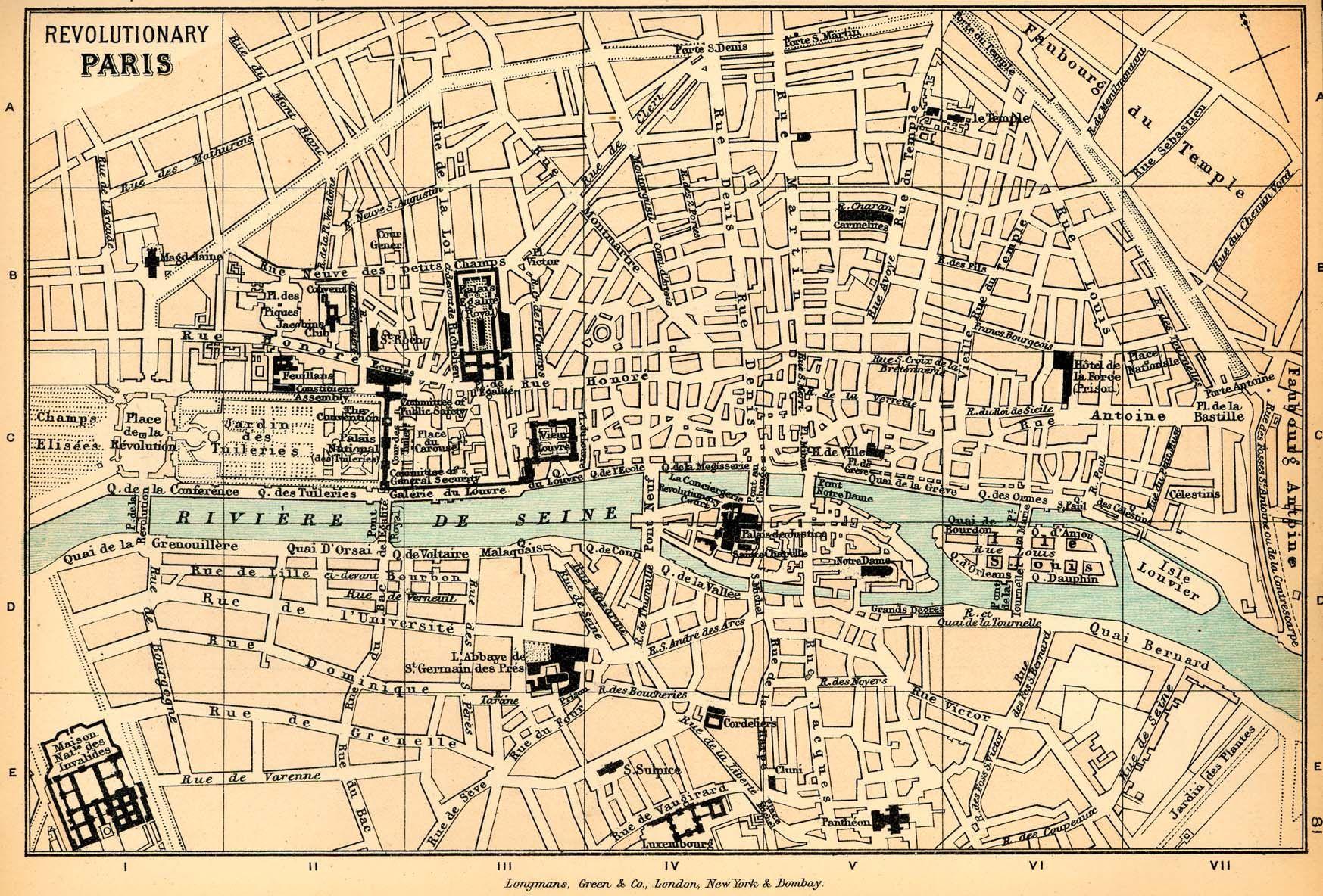 Street Maps of Paris France | Mapping Revolutionary Paris: 18th ...