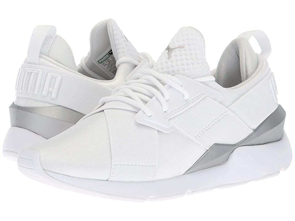 Puma Kids Muse Big Kid Puma White Puma White Girl S Shoes From The School Playground To The Neighborhood In 2020 White Shoes For Girls Puma Kids Girls Shoes Kids