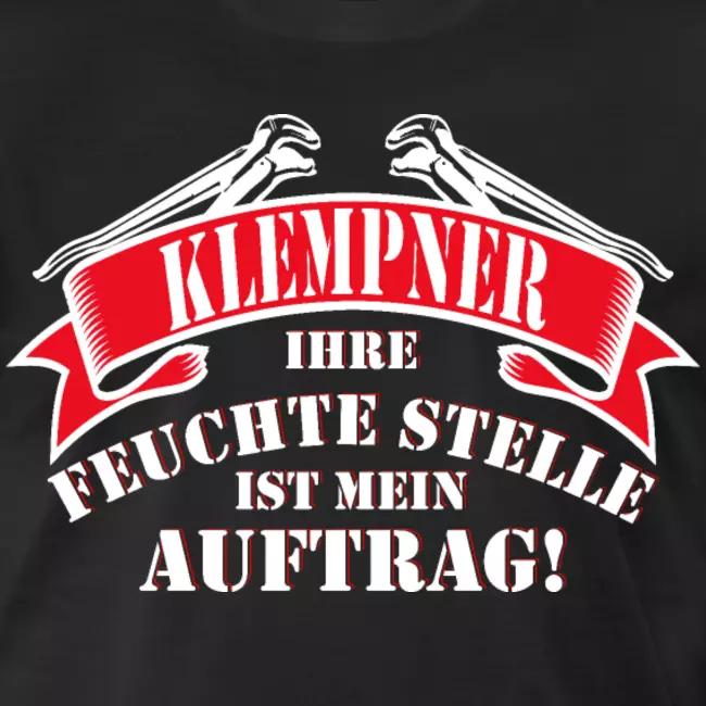 Klempner Installateur feuchte Stelle Auftrag Männer