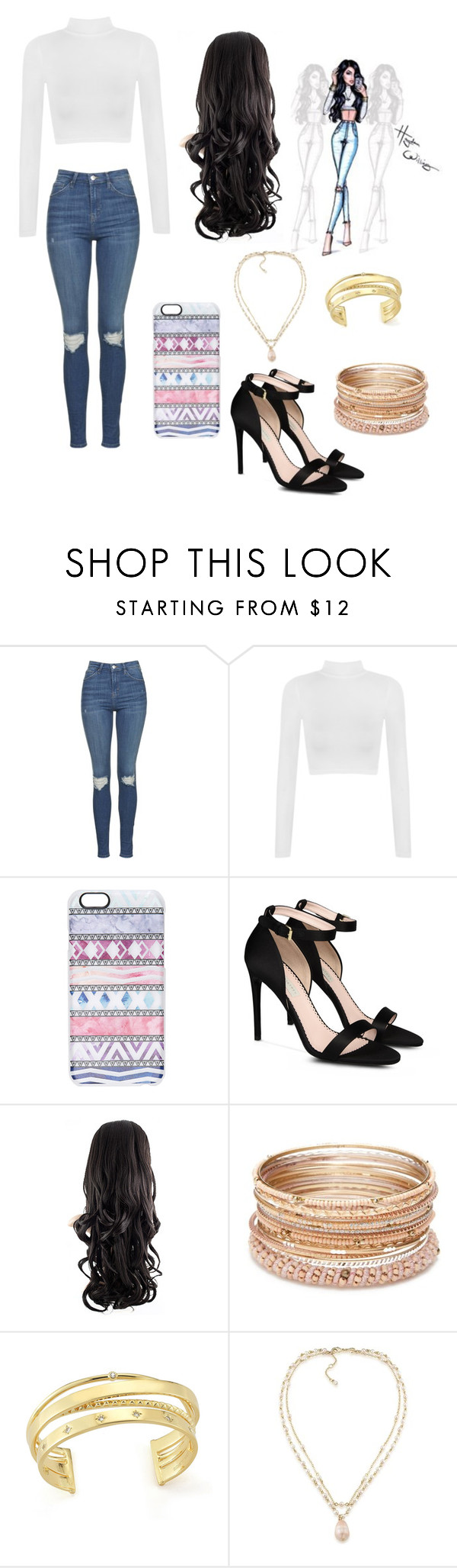 """""""Untitled #338"""" by lovebeingwacky ❤ liked on Polyvore featuring Topshop, WearAll, Casetify, STELLA McCARTNEY, Red Camel, Elizabeth and James and Carolee"""
