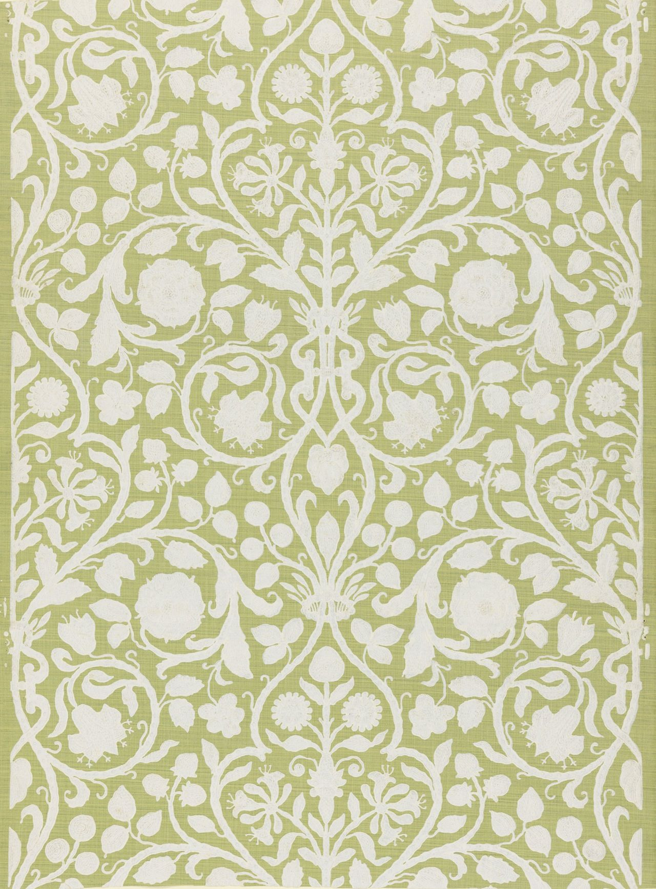 This French wallpaper was block printed by Paul Balin between 1880 ...
